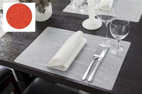 Set de table silicone mandarine 30 x 45 cm duni paquet de 6 - Set de table design ...