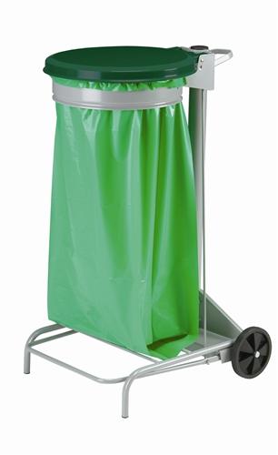 Poubelle de cuisine collecroule haccp couvercle vert 110 for Poubelle cuisine vert anis