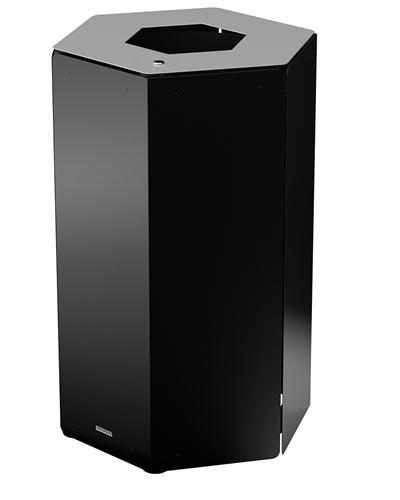 poubelle tri selectif avec serrure rossignol 50 l gris metal. Black Bedroom Furniture Sets. Home Design Ideas