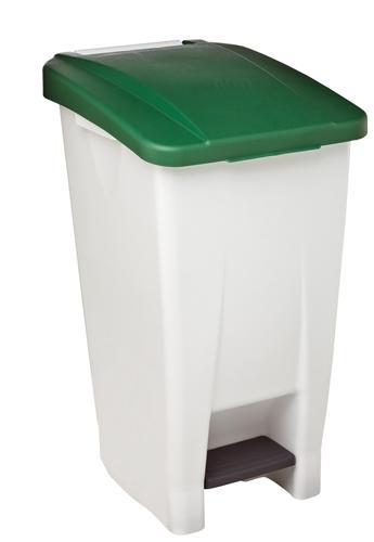 Poubelle de cuisine rossignol 60 litres haccp couvercle vert for Poubelle cuisine vert anis
