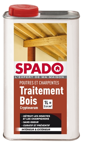 spado traitement du bois cryptoserum 1l. Black Bedroom Furniture Sets. Home Design Ideas