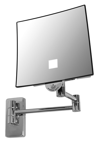 miroir grossissant lumineux eclips carr jvd. Black Bedroom Furniture Sets. Home Design Ideas