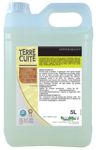 Nappe Bois Et Chiffon : Impermeabilisant terre cuite professionnel 5 L