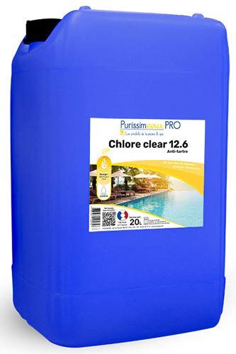 Chlore piscine liquide professionnel 48 piscine bidon 23 kg for Chlore liquide pour piscine