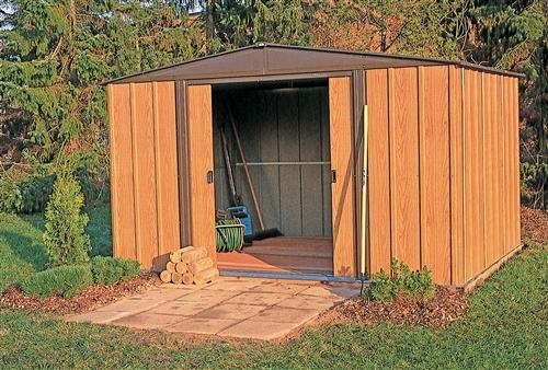 abri de jardin arrow en acier galvanis 4 m2. Black Bedroom Furniture Sets. Home Design Ideas