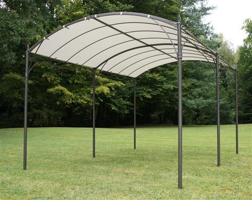 Tonnelle de jardin azur capri fer forg 3 x 4 m autoport e galvanis e - Tonnelle jardin fer forge ...