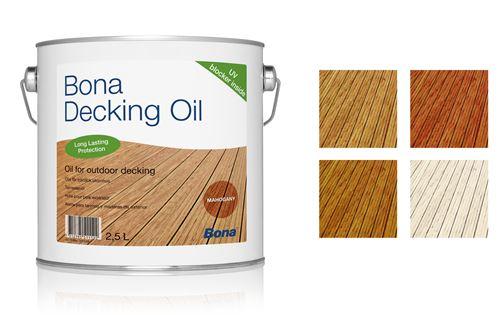 Nappe Bois Et Chiffon : Huile parquet exterieur Bona deck oil incolore 2,5L