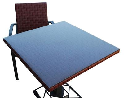 Kaiman Bordeaux 80x80 Bistrot Aluminium Table Carree Resine Tressee EIH2WD9Y