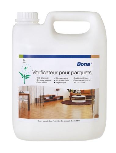 Nappe Bois Et Chiffon : Vitrificateur parquet Bona monocomposant mat 5 L