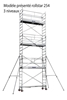 Echafaudage roulant acier Duarib rollstar 205 H 8,2m