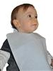 Bavoir jetable bébé bleu non tissé 75gr/m2 colis de 300