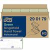 Essuie mains Tork advanced vert Ecolabel 23x25 pliage V colis de 3750
