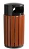 Poubelle bois exterieure Rossignol ronde 60 litres