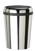 Poubelle inox couvercle basculant ovale Rossignol Swingy 59 L