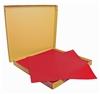Nappe papier 70 x 70 cm rouge vif colis 500