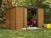 Abri de jardin Arrow ED108 acier galvanisé 7m2 imitation bois