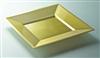 Assiette jetable couleur or carré 180 x 180 colis de 72