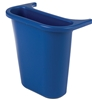 Bac Rubbermaid de separation poubelle tris selectif 4,5 Litres bleu