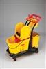 Chariot de menage Wavebrake Rubbermaid jaune avec presse