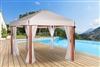 Tonnelle de jardin bois exotique hexagonale Riviera 4,5