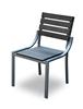 Chaise de jardin aluminium teck composite vieilli Equateur déclassé