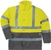 Parka fluo haute visibilité jaune gris 4 en 1 Multiview Panoply