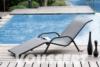 Bain de soleil aluminium resine tressee vague