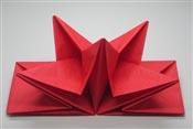 Serviette papier prepliee pliage etoile rouge etui de 12