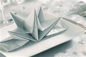 Serviette papier prepliee argent Noel et reveillon pochette de 12