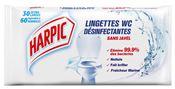 Lingettes Harpic jetable WC etui de 30