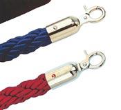 Cordon avec 2 crochets bleu et inox doré