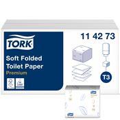 Papier toilette plat Tork Premium doux colis de 30 paquets
