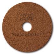 Disque cristallisation Scotch Brite 3M terre de sienne 432mm par 5