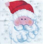 Serviette Noël papier Père noël 33 x 33 cm colis de 600