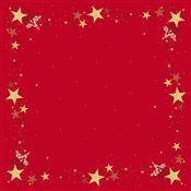 Surnappe Dunicel noel rouge 84x84 paquet de 5