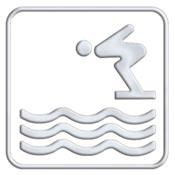 Pictogramme  accés piscine