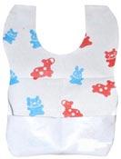 Bavoir jetable bébé enfants PE 22x30 cm colis de 400