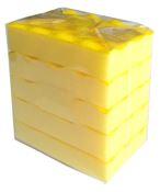 Eponge HACCP jaune lot de 5
