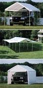 Tente de reception rideaux et extensions 7,3 x 6,6 m
