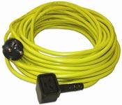 Câble electrique monobrosse Numatic 3x1,5mm jaune 20m nuplug