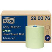 Essuie main Tork Matic rouleau H1 advanced vert colis de 6