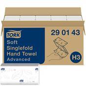 Essuie mains Tork advanced blanc Ecolabel pliage V colis de 3750