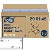 Essuie mains Tork H3 pliage V bleu colis 4000