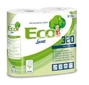 Papier toilette rouleaux biodégradable 320 fts Ecolabel colis de 36