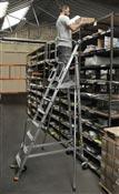Escalier mobile de rayonnage 10 marches