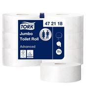 Papier toilette jumbo Tork Ecolabel blanc 380 m 2 plis colis de 6