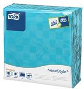 Serviette papier Tork 38x39 2 plis turquoise colis de 900