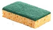 Tampon vert sur eponge 110 x 70 par 10