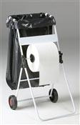 Derouleur bobine papier mobile avec support sac poubelle
