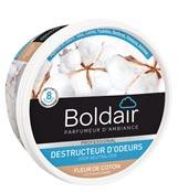 Destructeur d'odeur gel Boldair désodorisant fleur coton 300 grs
